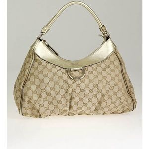 Authentic Gucci Gold D Ring Abbey Gucci hobo bag